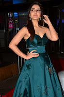 Raashi Khanna in Dark Green Sleeveless Strapless Deep neck Gown at 64th Jio Filmfare Awards South ~  Exclusive 028.JPG