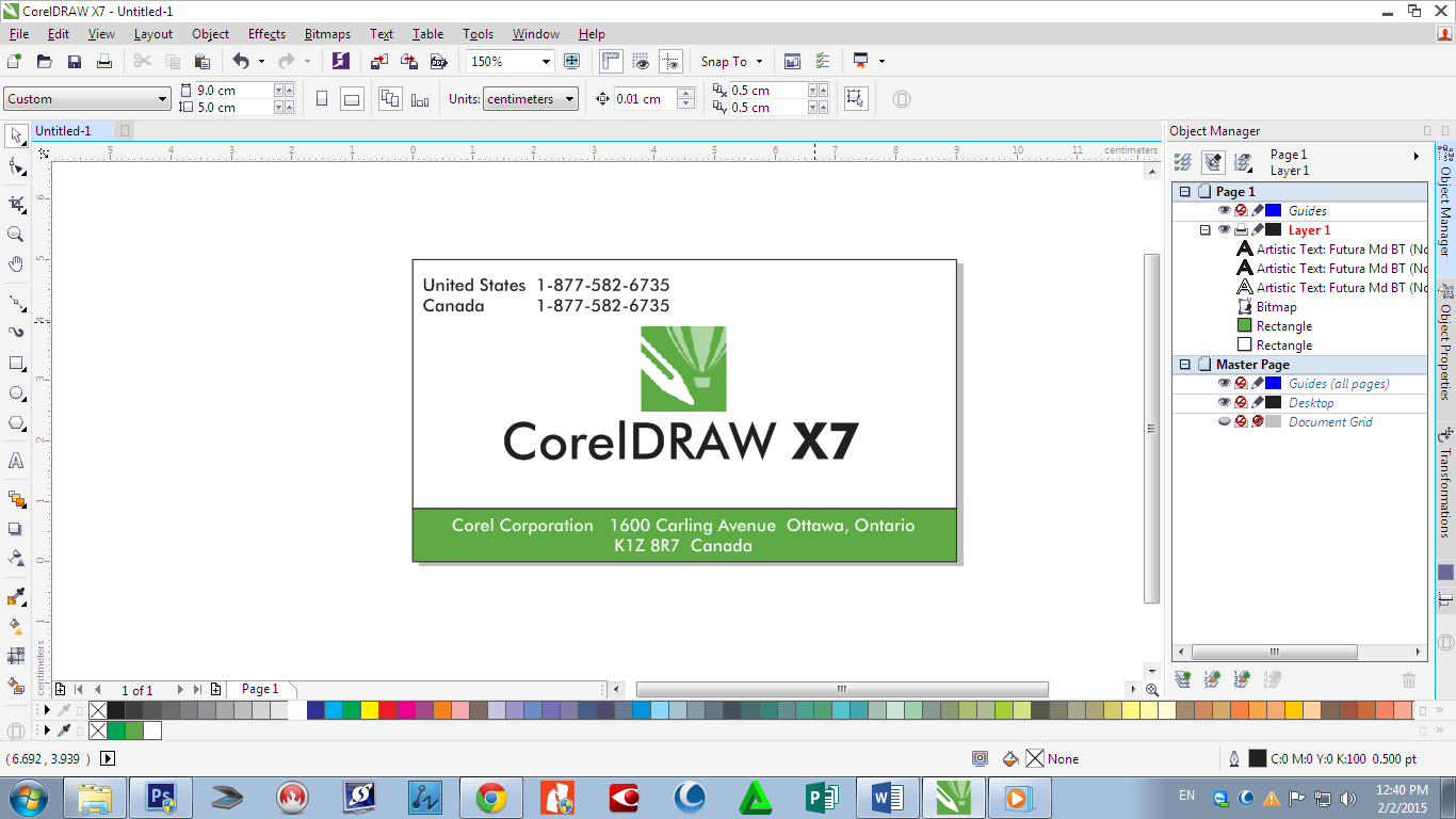 How to make a business card and print