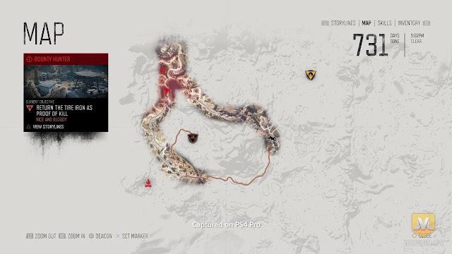 الكشف عن أول صور خريطة لعبة Days Gone الكاملة و نظرة أقرب عن عالمها
