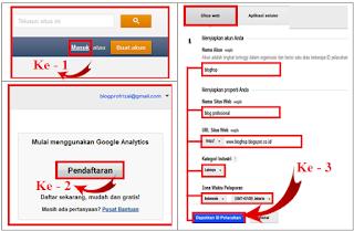 Mendaftar Google Analytics Tahap Ke - 1