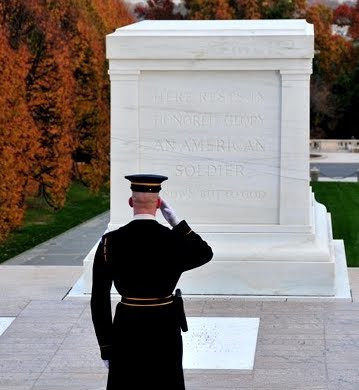 The Tomb of the Unknowns at the Arlington National Cemetery