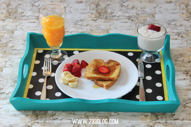 breakfast serving tray for mothers day