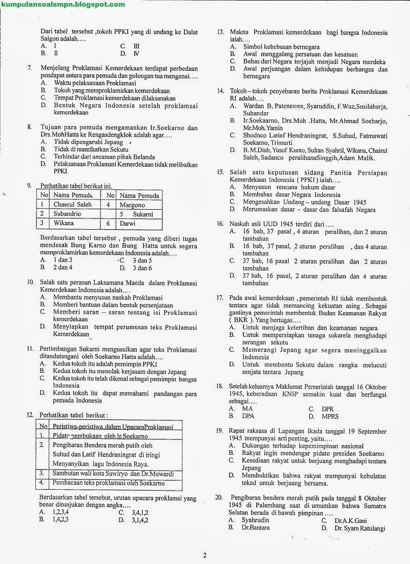 Ukk Ips Kelas 8 Smp Semester 2 Ta 2013 2014 Kumpulan Soal Dan Prediksi Ujian Nasional Smp