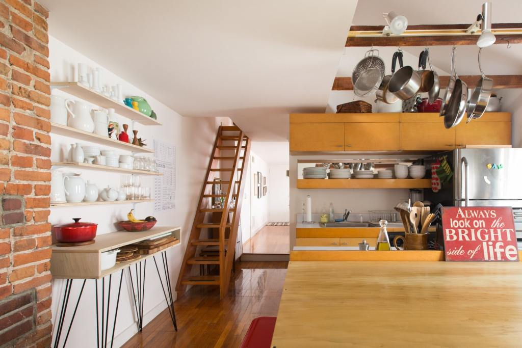 the kitchen is simple and neat  apartmenttherapy.com