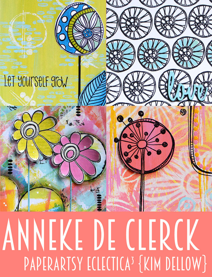Anneke De Clerck samples for the February 2017 PaperArtsy {Kim Dellow} Product release