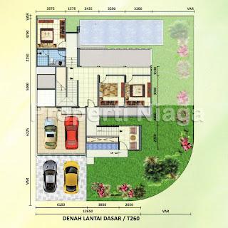 Denah-Rumah-Cluster-Emerald-Golf-Type-Avage-Sentul-City_1