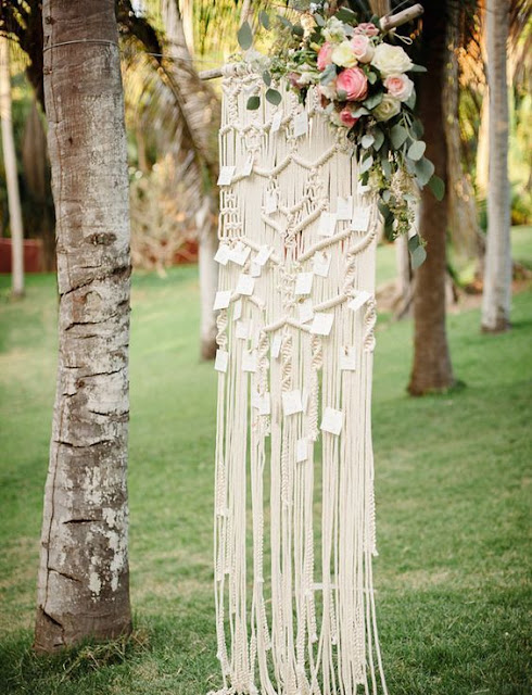 http://www.deerpearlflowers.com/boho-macrame-knotted-wedding-decor-ideas/