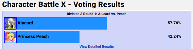 GameFAQs Character Battle X Alucard Princess Peach voting results