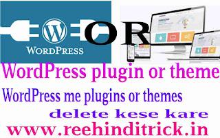 WordPress me plugin or theme delete kese kare 1