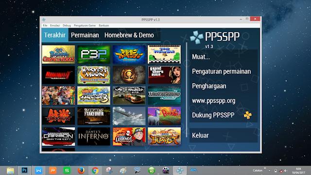 emulator untuk game psp yang ringan dan bagus mudah