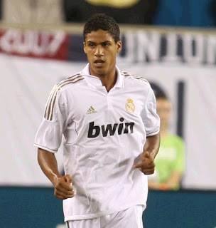 Raphael Varane with the Real Madrid white jersey during a friendly match in USA