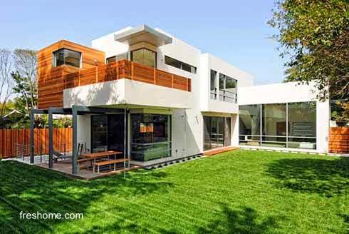 Casa contemporánea prefabricada en Palo Alto, California