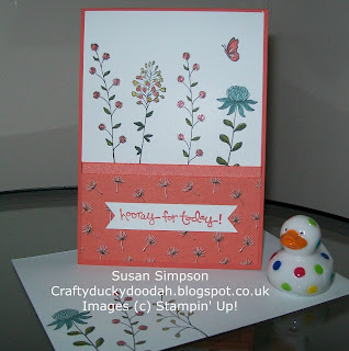 Stampin' Up! Made by Susan Simpson Independent Stampin' Up! Demonstrator, Craftyduckydoodah!, Flowering Fields, Greatest Greetings,