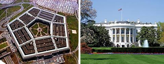 Pentágono x Casa Branca