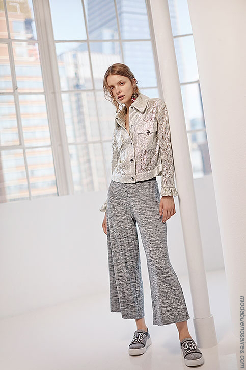Moda verano 2018. Moda 2018 pantalones.
