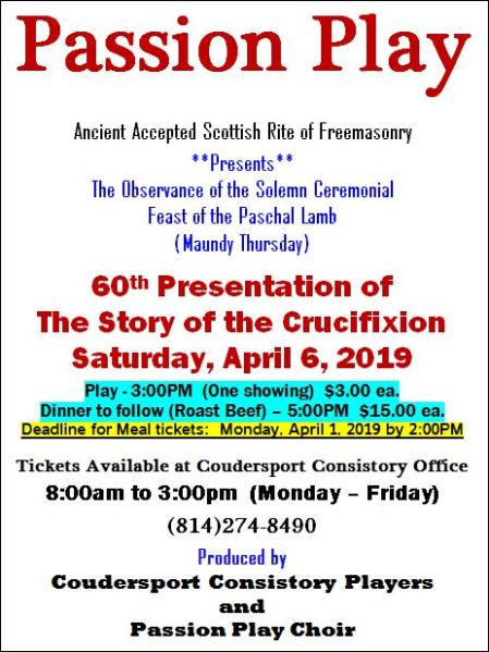 4-6 Passion Play, Coudersport, PA