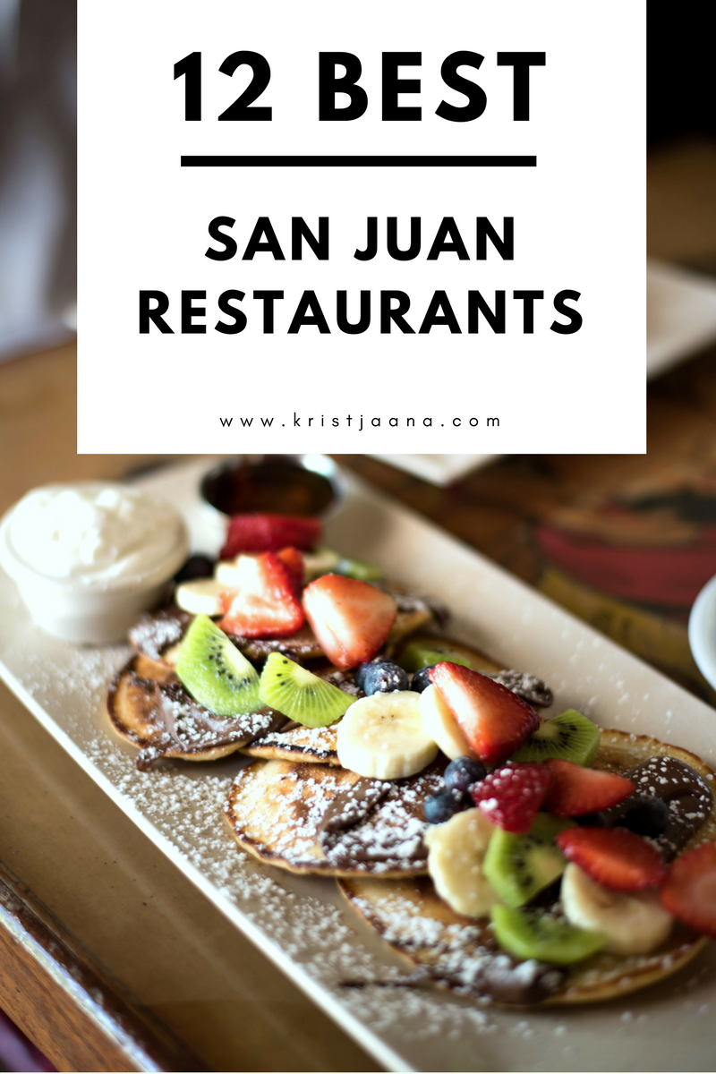 where to eat brekfast lunch dinner in san juan