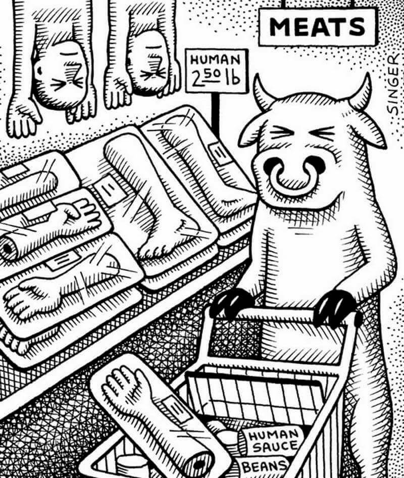22 Thought-Provoking Illustrations Depict How The World Would Be Like If Animals Treated Humans The Way We Treat Them