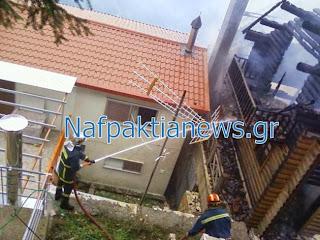 Ναύπακτος: Πήγαν να του κατασχέσουν το σπίτι και το αμάξι. Έκαψε το σπίτι και πέταξε το αυτοκίνητό του σε γκρεμό!!!! [video]