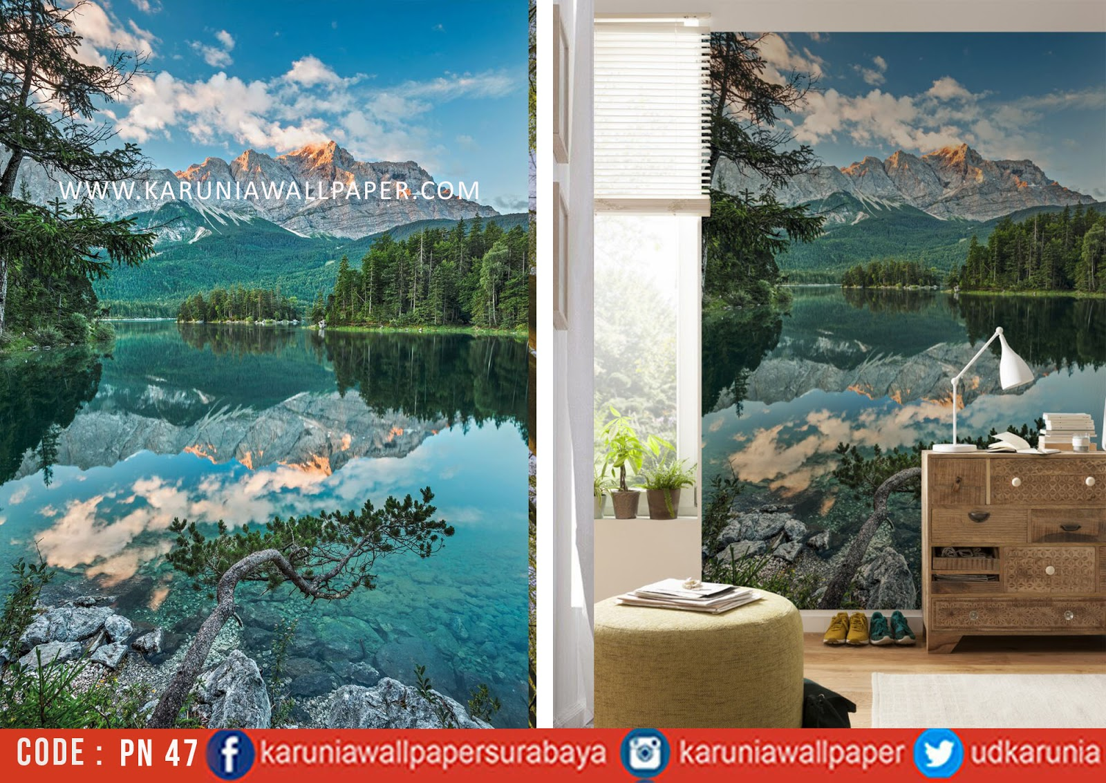 jual photowall wallpaper gunung