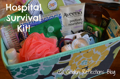Hospital survival kit for new moms.