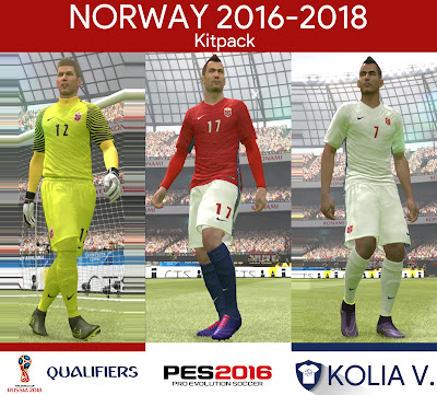 PES 2016 Norway 2016-2018 Kitpack by ramy
