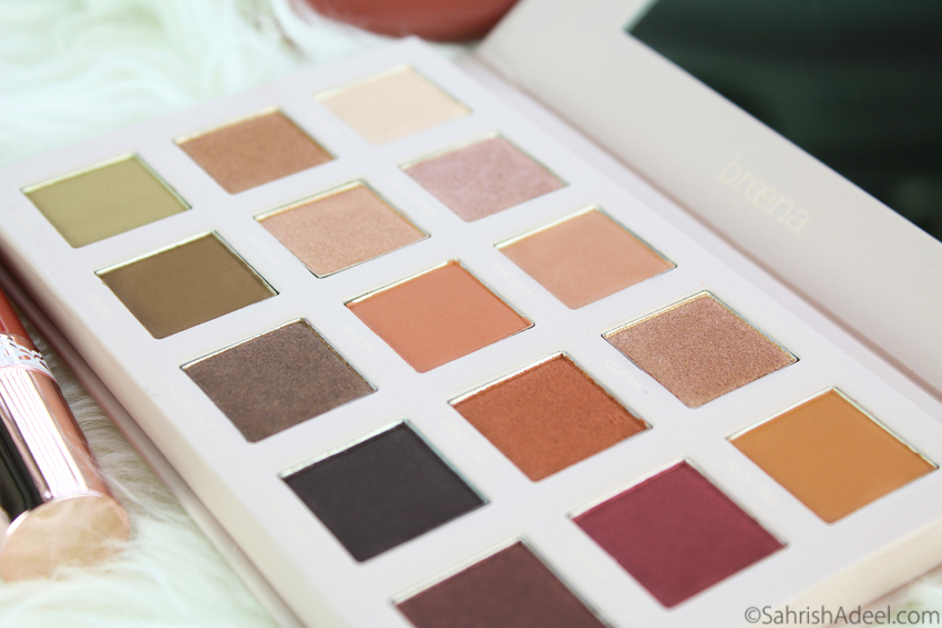 Wanderlust Eyeshadow Palette by Breena Beauty - Review & Swatches