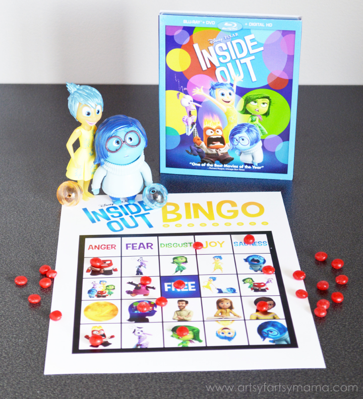 Free Printable Inside Out Bingo to play at an Inside Out Party! #InsideOutMovieNight