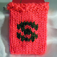 Knitted S, monogrammed S, gift card holder