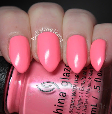 china glaze lite brites collection swatch lip smackin good