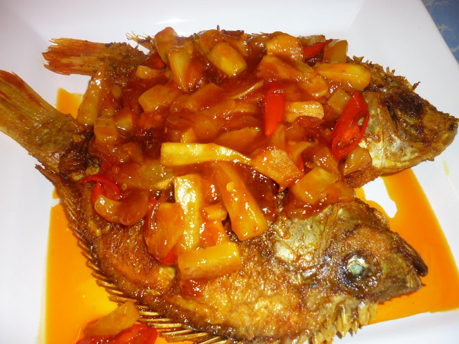 ikan talapia masam manis