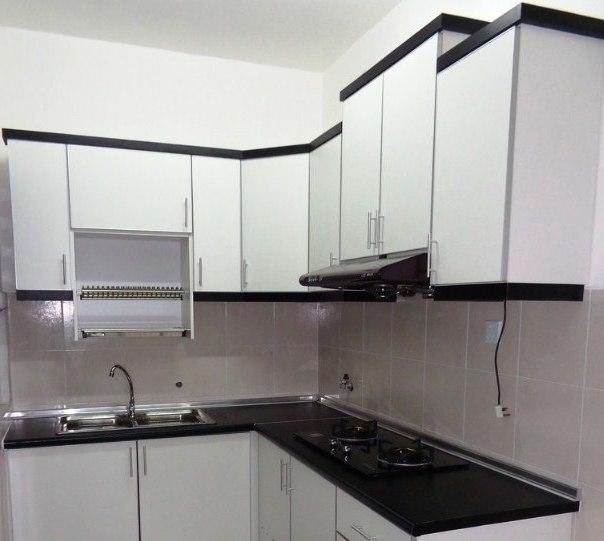 50 kabinet  dapur  minimalis dari kayu aluminium modern