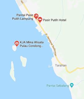 Peta pulau condong