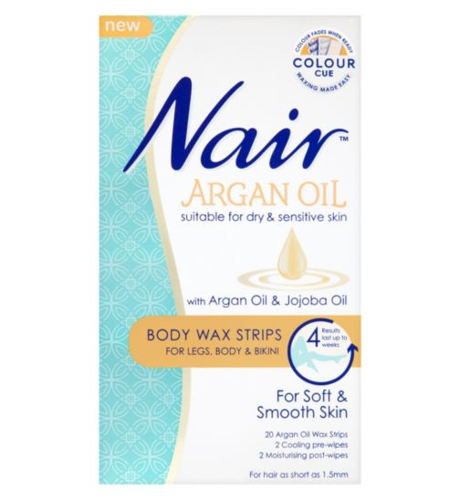 Nair Argan Oil Washable Roll On Wax Suitable For Dry Sensitive Skin With Orange Blossom Extract 100ml 12 99