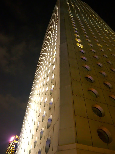 Jardine House at night, Central, Hong Kong
