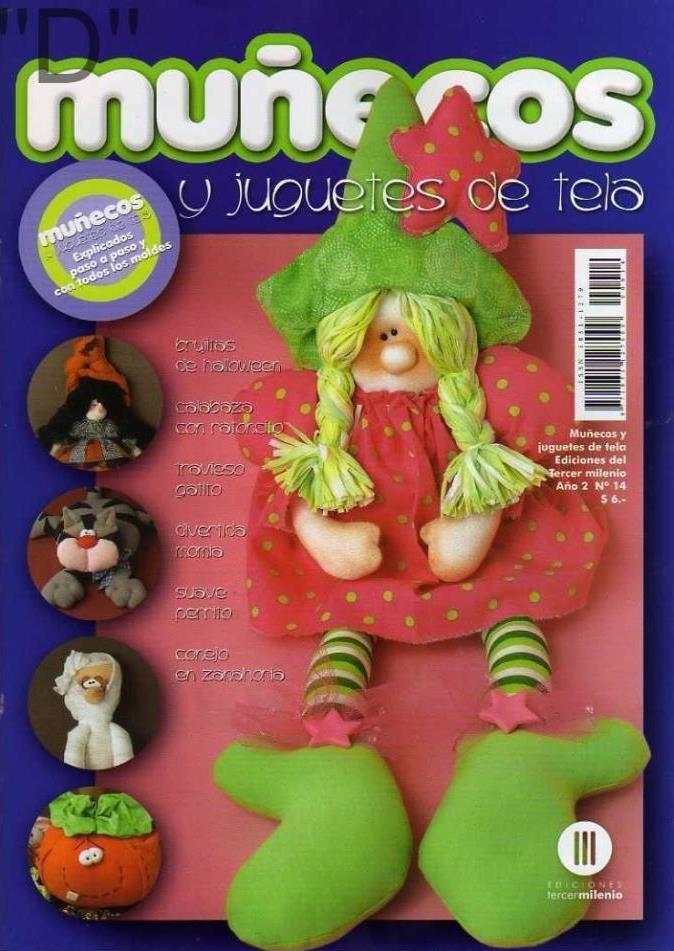 Muñecos y Juguetes de tela Nro. 14