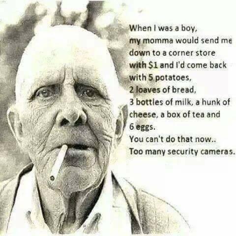 When I was a boy...