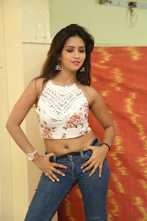 Deekshita Parvathi in a short crop top and Denim Jeans Spicy Pics Beautiful Actress Deekshita Parvathi January 2017 CelebxNext (70).JPG