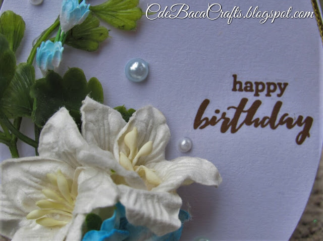 Happy birthday gift tags with flowers and leaves by CdeBaca Crafts Blog