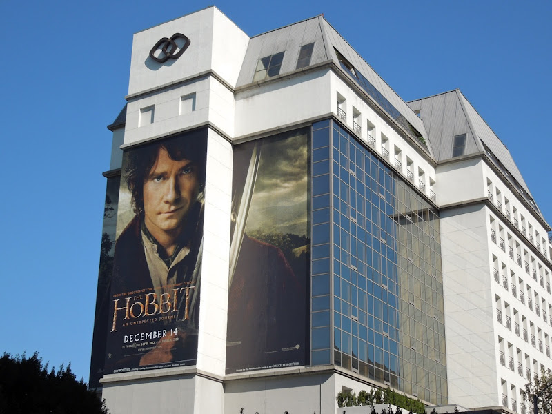 Giant Hobbit movie billboard Beverly Boulevard