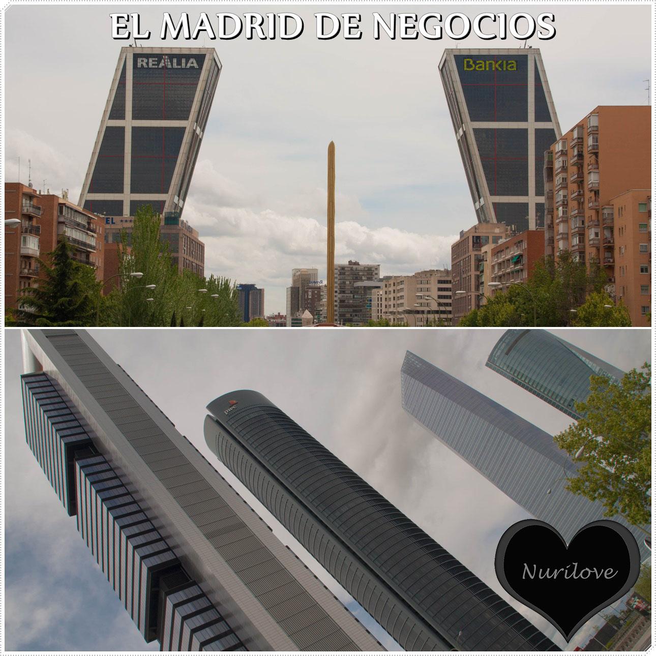 Otra imagen de Madrid, nos acercamos a la zona de negocios de Madrid