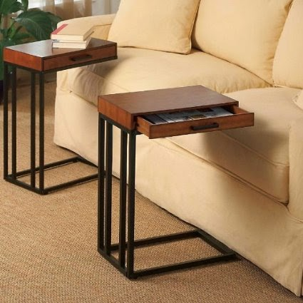 Couch table slide under couch table for Sofa side table designs