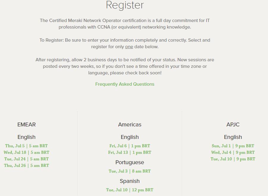 Café com Redes: Certificações Meraki
