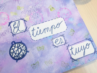 vídeo tutorial de art journal en español de laila color de pon color en tu vida