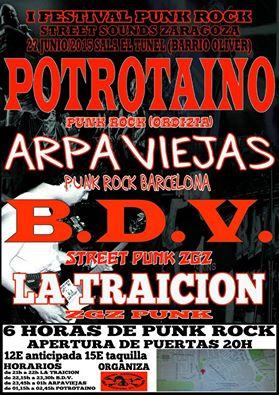 Concierto Arpaviejas en Zaragoza Punk