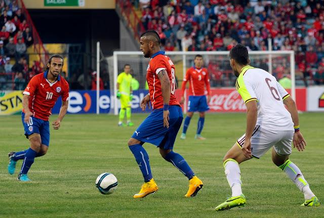 Chile y Venezuela en partido amistoso, 14 de noviembre de 2014