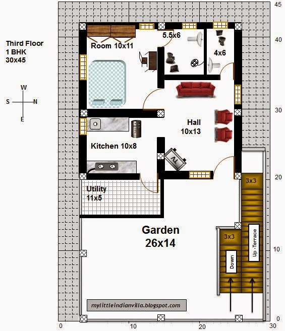East Facing House Vastu Plan 30 X 45
