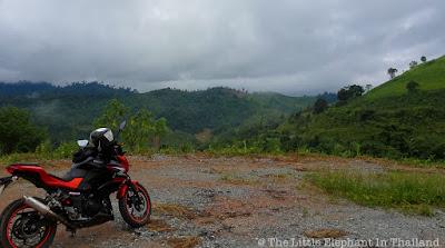 On the motorbike riding to Nanthaburi National Park in Nan - Thailand