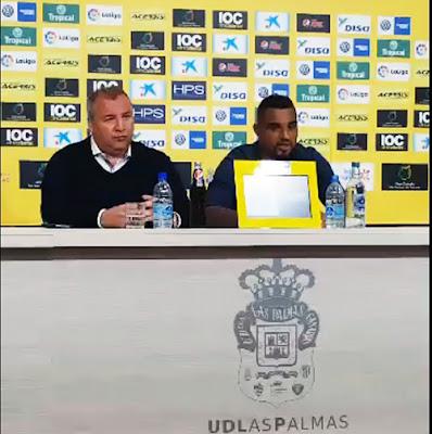 Rueda de prensa de la despedida de Prince Boateng en el Estadio de Gran Canaria