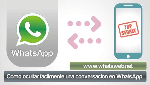 Como ocultar facilmente una conversacion en WhatsApp